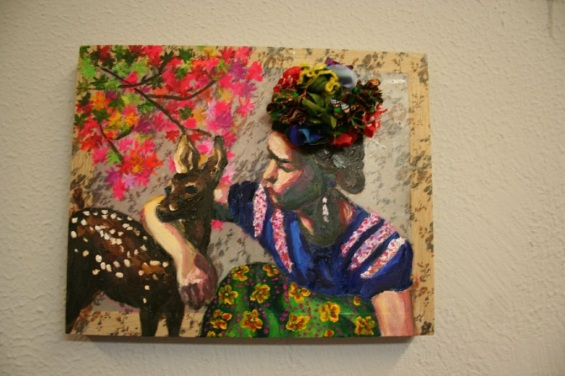 Frida and fawn 20x15cm