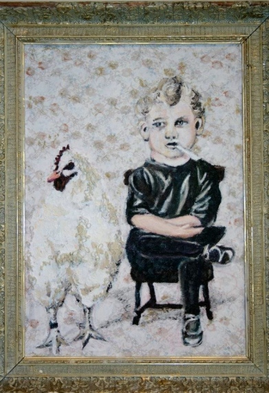 Chicken boy 60x90cm