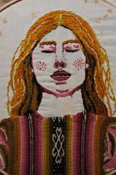 Suico Weaving, embroidery and flower print 29.4x36cm 2018 $404