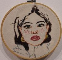 Peony Embroidery 13.5cm diameter 2018 $167