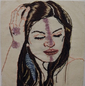 Sasha Embroidery & Flower Print 19x20.5cm $244