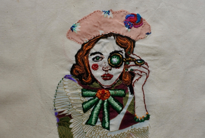 The Explorer Embroidery 29x18.1cm 2017 $291