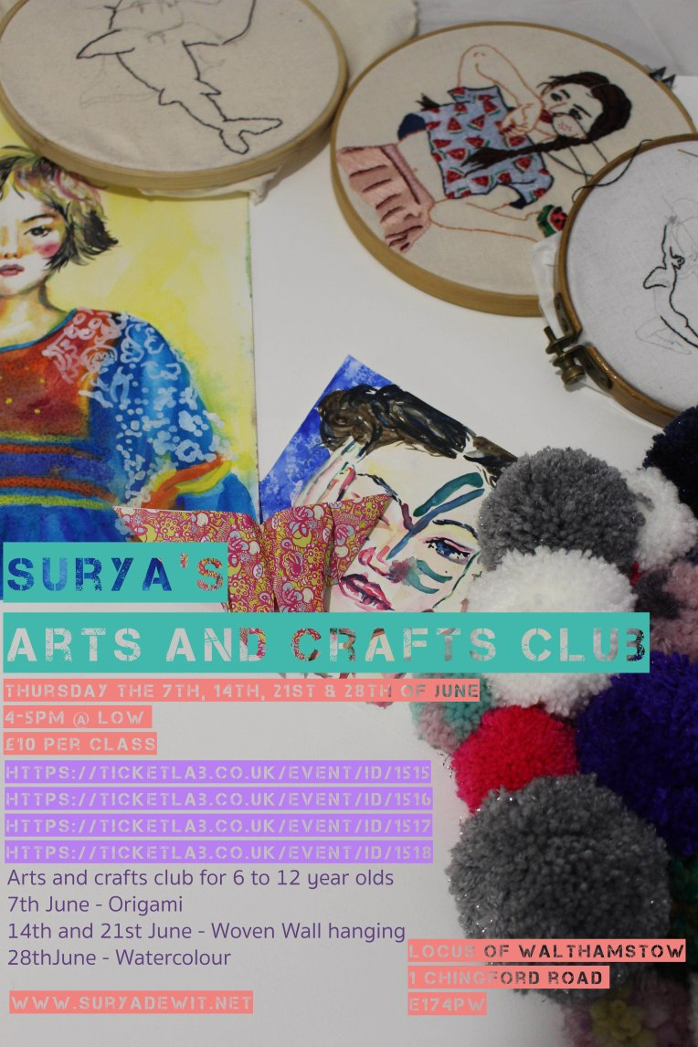Arts and crafts club flyer 4 links